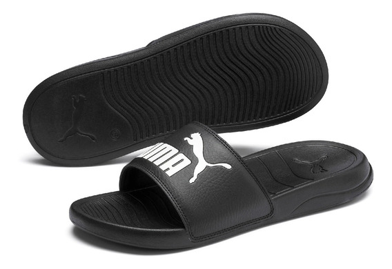 Chinelo Puma Adulto Pop Cat Preto - 0144