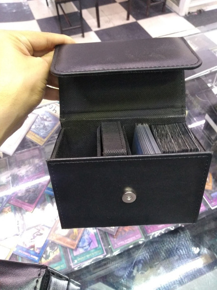 Porta Deck Box Tipo Piel P/250 Cartas Yugioh Pokemon Magic