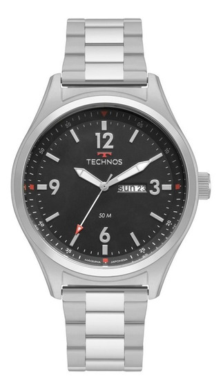 Relógio Technos Masculino Prateado Militar 2105ba/1p