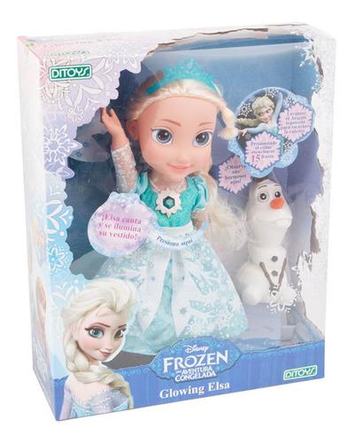Muñeca Frozen Glowing Elsa Canta Y Se Ilumina Orig Ditoys Cu