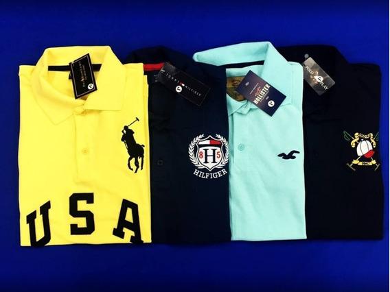 Kit 10 Camisas Polo Masculina Alto Padrão Blusa Camiseta