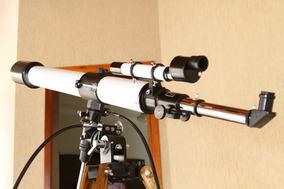 Telescópio Towa 80-1200mm Vintage, Restaurado, Tripé Madeira