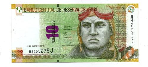 Peru Billete 10 Nuevos Soles 2013 P#187 S/c - Argentvs
