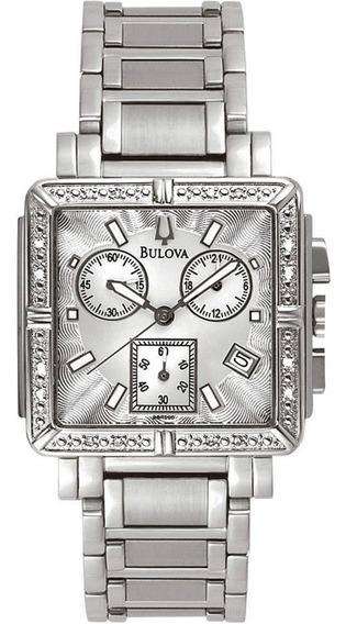 Relógio Bulova Wb27010q Prata Brilhantes Feminino Original