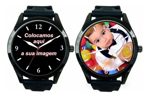 Kit 2 Relógios Pulso Personalizados Foto Imagem Logo Barato