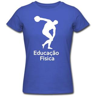 Baby Look Feminina Curso Educação Física Camiseta