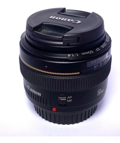 Lente Canon Ef 50mm F/1.4 Usm Super Bem Conservada - Usada