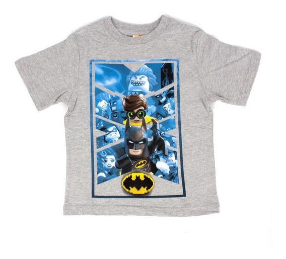 Playera Para Niño Lego Estampado Batman Y Robin Forever
