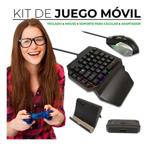 Imagen 1 de 7 de M-1200 Kit De Mouse Y Teclado Para Juegos Pc Y Móvil Led