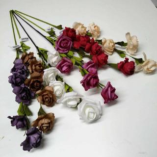Varas De Flores Goma Eva X10 Unid.varios Modelos Y Colores