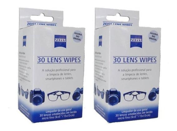 Lenço Umedecido Limpeza De Lentes Zeiss (kit 2 Caixa ) J