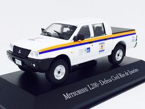 Miniatura De Mitsubishi L200 4x4 Gl Defesa Civil Rj 1:43 Ixo