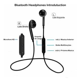 Fone Ouvido Sem Fio Bluetooth Esportivo Com Microfone
