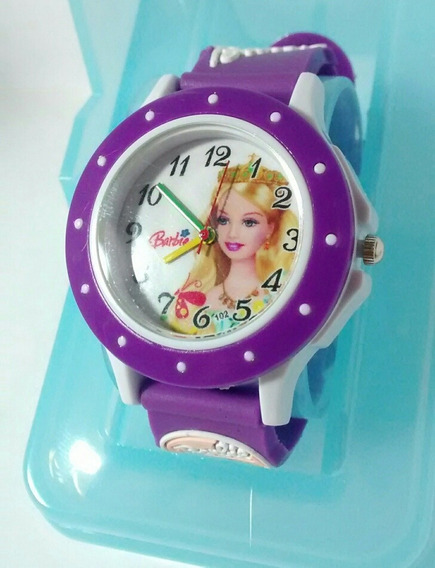 Relógio Infantil Boneca Barbie Barato