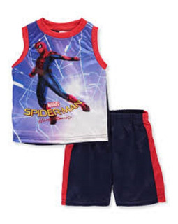 Conjunto Musculosa Hombre Araña Marvel 2 Años
