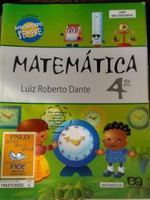 Matematica 4º Ano Dante Coleçao Aprendendo Sempre 2012