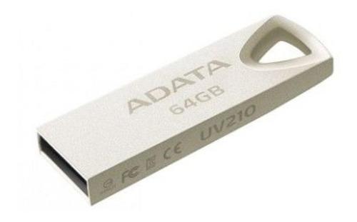 Memoria USB Adata UV210 64GB 2.0 plateado