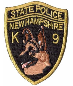 Patch P/ Camisa Canil Policia K9 Nova Hampshire Eua Usa