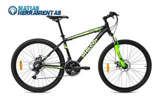 Bicicleta Aluminio Amortiguadores Rodado 26 Philco 21 Veloc