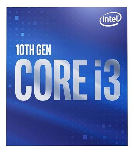 Processador Intel Core i3-10100F BX8070110100F de 4 núcleos e 3.6GHz de frequência