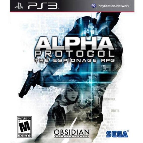 Jogo Alpha Protocol (novo) Ps3