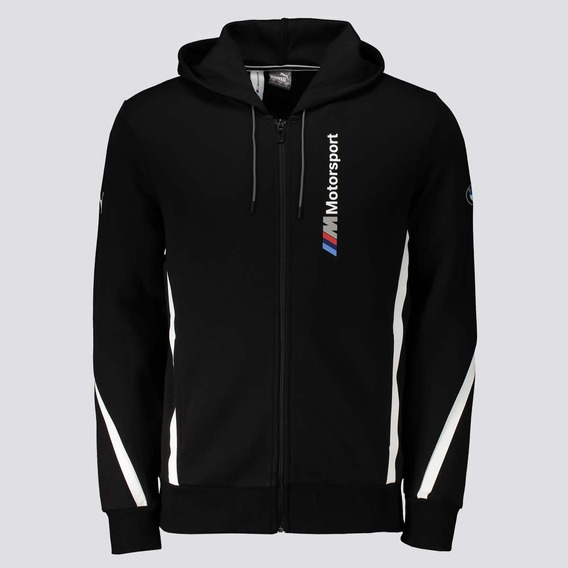 Jaqueta Puma Bmw Motorsport Hooded Sweat Preta