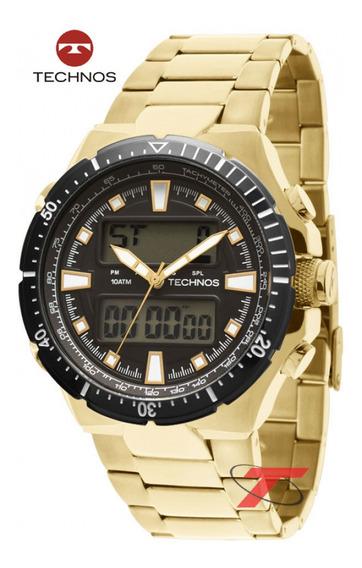 Relógio Masculino Dourado Da Technos Performance0527ab/4p