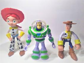 3 Bonecos Coleção Woody, Buzz E Jessie Promoção Toy Story