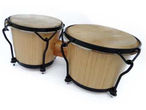 Bongo Profesionales De Madera Pino Percusión