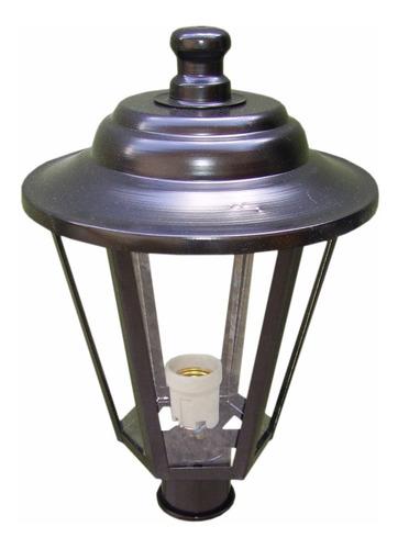 Farol Exterior Poste 1 Luz + Adaptador Para Columna