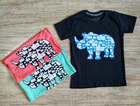 Camiseta Infantil Estampa Rinoceronte Like