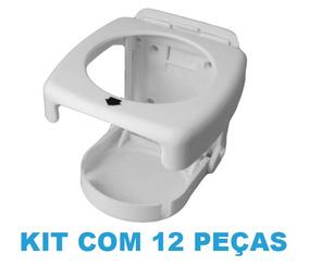 Kit Com 12 Porta Copo Retrátil Dobrável (branco) - Supercubo