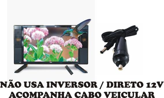 Tv Digital 17 Pol 12 Volt Inversor Caminhão Carro Van Ônibus