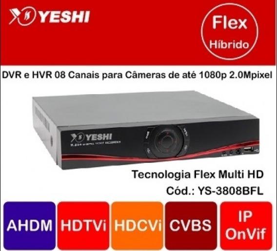 Dvr 08 Canais Flex Para Câmeras Até 2mpixel 1080p! Envio 24h