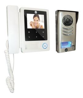Kit Videoportero Digital Unidad Exterior Con Camara, Monitor Con Auricular Y Fuente De Alimentación Ydv 4202
