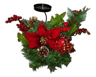 Centro De Mesa Candelabro 46cm Navidad Regalo Adorno Hogar