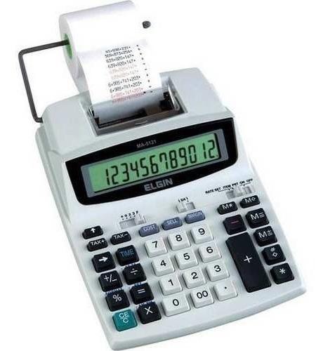 Calculadora De Mesa Ma5121 Com Bobina Elgin