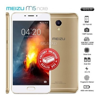 Nueva Fábrica Desbloqueado Sellado Meizu M5 Nota M621h Oro 3