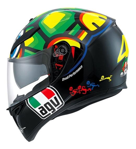 Capacete Agv K3 Sv Turtle Tartaruga - Valentino Rossi 46