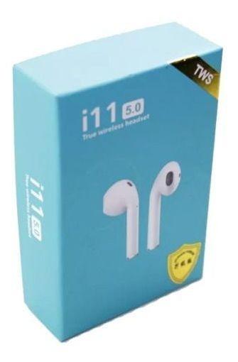 Fone De Ouvido Bluetooth I11 Tws 5.0 Touch Sem Fio Branco