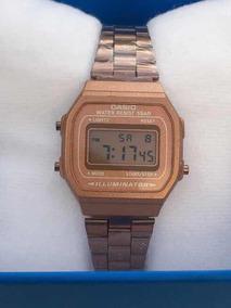 3a55260a45a7 Reloj Casio Mini Rosa Mate A168 Rose Gold Dama