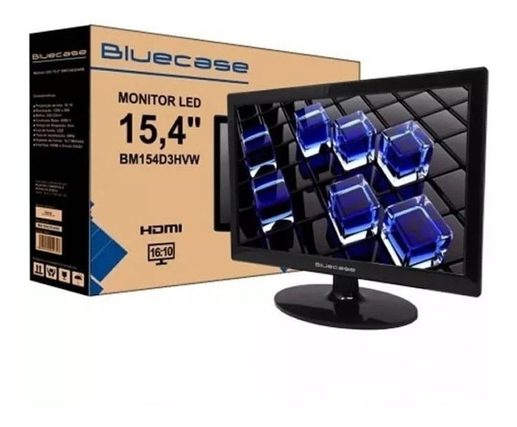 Monitor Bluecase Led 15.4´ Widescreen Hdmi Vga
