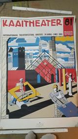 Poster Festival De Teatro Bruxelas 1981