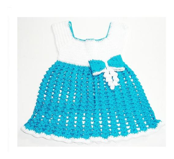 Vestido Para Bebe Niña Bebe , Tejido A Mano