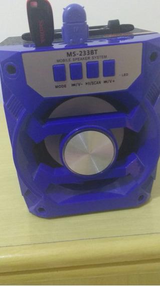 Caixinha De Som Via Bluetooth Com Um Preidaive De 4 Gb