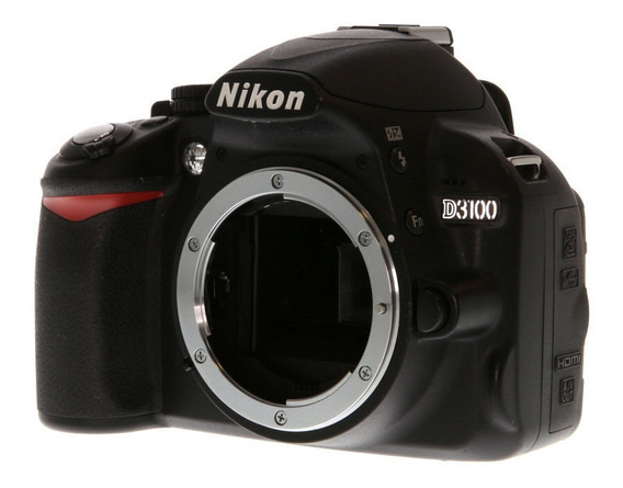 Nikon D3100 DSLR color negro