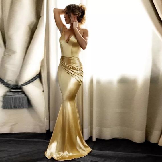 Vestido Largo De Fiesta (golden)