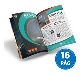 10x Revista Catálogo Personalizado A4 Couche 115gr Grampo