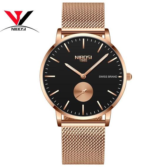 Nibosi Quartz Relógios Homens Unisex Relógios Simples À Prov