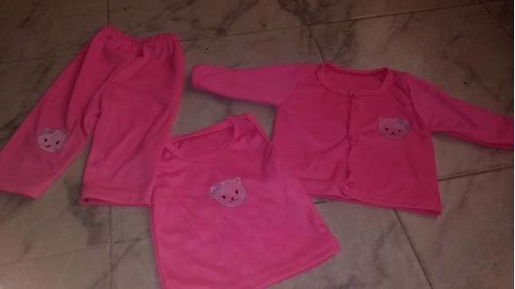 Pijama Para Niña Recién Nacido Talla 1/2 Meses Color Rosado